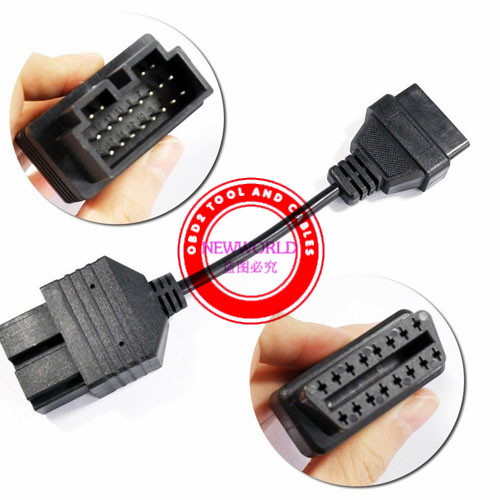 Wholesale Kia 20 Pin To OBD2 Cable Auto Diagnostic Adapter Connector Tool Connector To 16 Pin Good Quality(China (Mainland))
