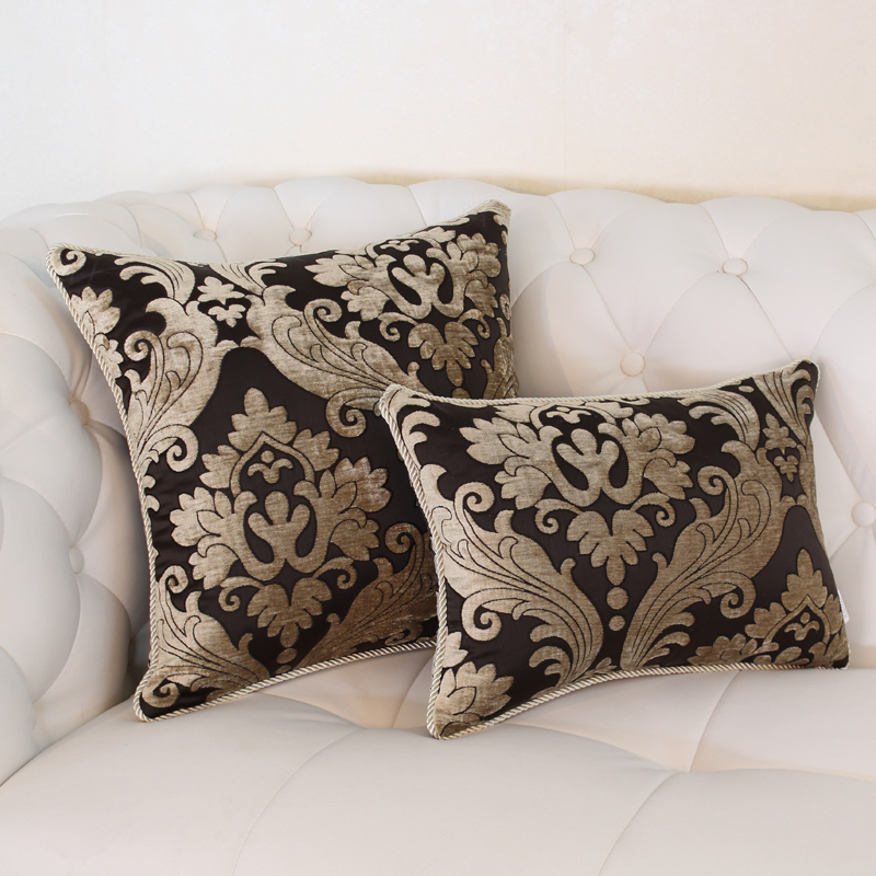 Discount Throw Pillow Covers Cheap Euro Luxury Chair Cushion Mat Covers modern style elegant ...