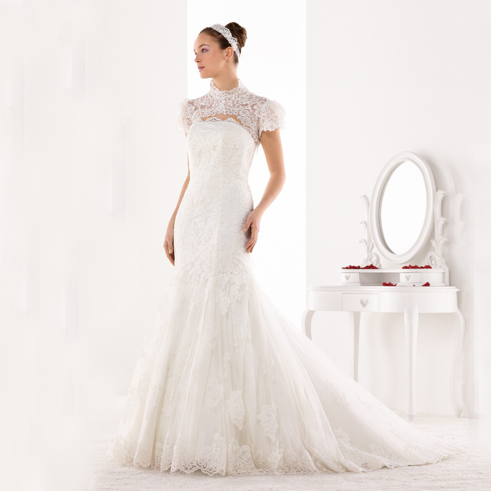2 Piece Plus size wedding dresses