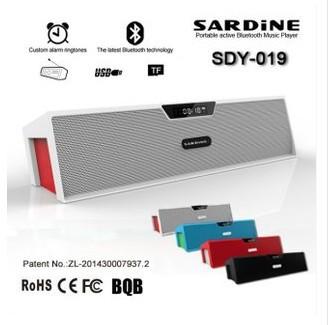 Original HIFI Bluetooth Speaker with screen Alarm clock Sardine FM Radio wireless USb Amplifier Stereo Sound Box SDY019(China (Mainland))