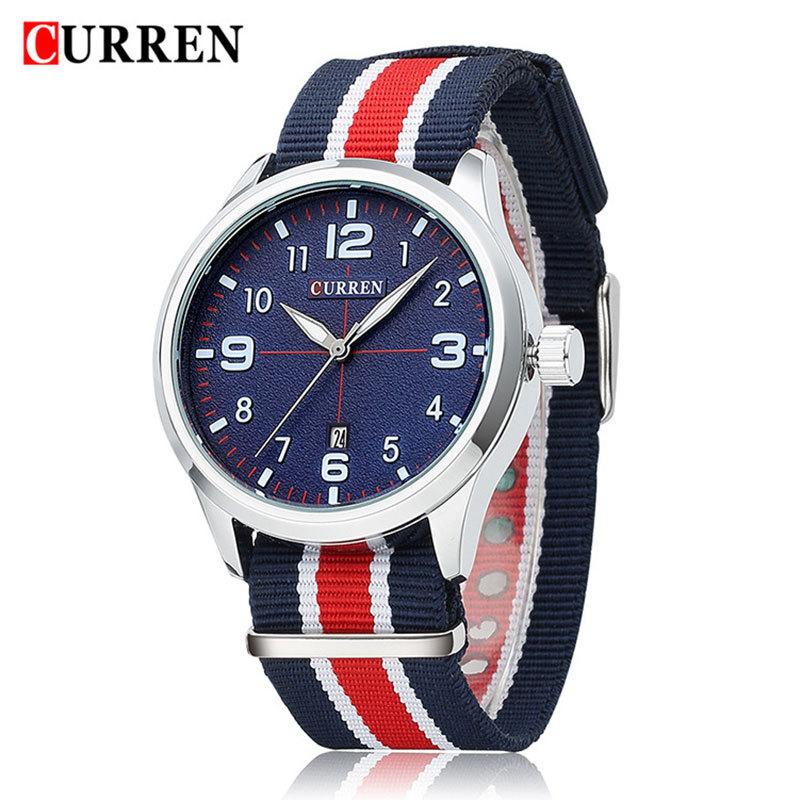Relogio Masculino New CURREN 8195 Quartz Watch Men Brand Luxury Wristwatches Men Auto Date Military Leather Sports Watches(China (Mainland))
