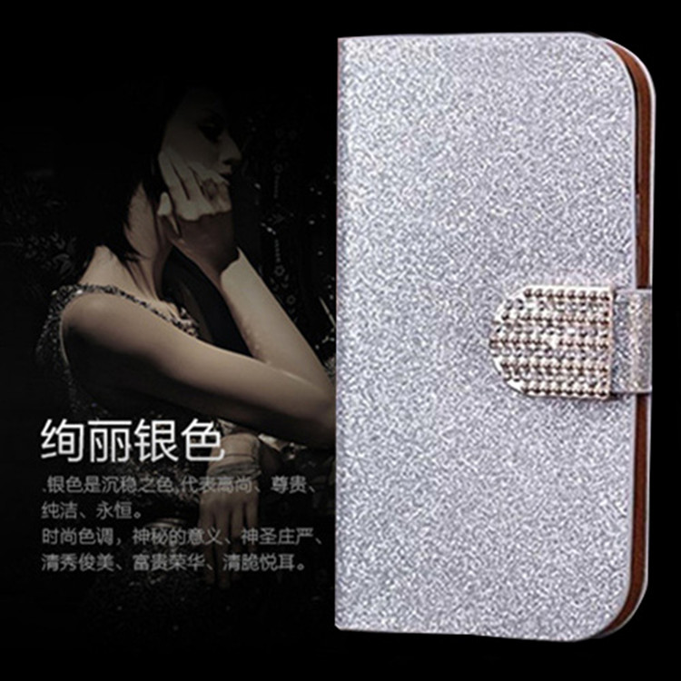 Luxury Glitter Rhinestone Phone Case For Sony Ericsson Xperia Arc S X12 LT15i LT18i Cover Flip Wallet Leather Phone Pouch