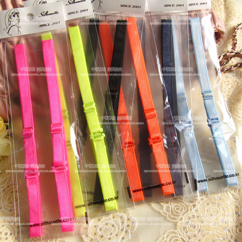 Hot sale Candy Color Shoulder Strap Bra Bra Strap Manufacturers Supply Invisible Straps(China (Mainland))