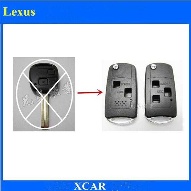 Free Shipping! Uncut Key Blank Modified Folding Remote Key Shell For Lexus Key Shell 2BT 3BT(China (Mainland))