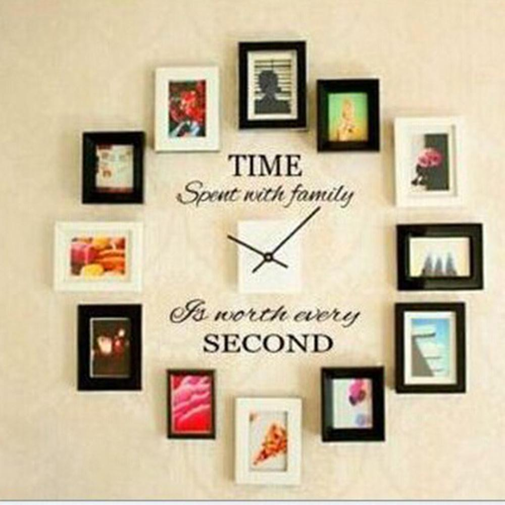 Diy Home Decoration Wall Decals : Time spent with family quote wall decoration letters vinyl