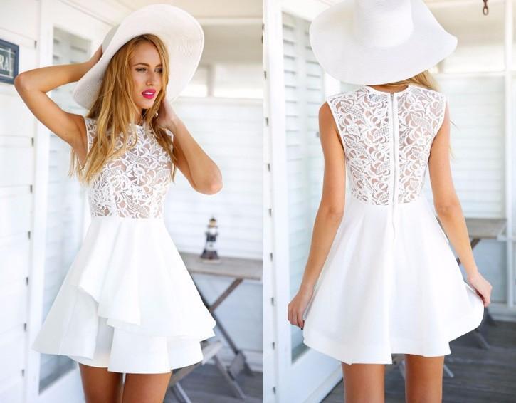 style a skater dress lace