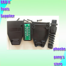 Wholesale Factory Price! High Quality Universal 16Pin 16 pin EOBD2 OBDii OBD II OBD2 J1962 Connector Male Plug Adapter 1 Piece(China (Mainland))