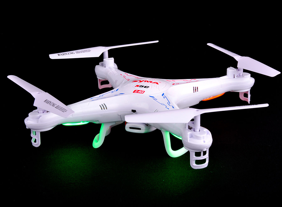 Dron Syma X5C 1 X5C Drones 4CH 6 Axis RC Gyro Quadcopter Toy White With 2MP