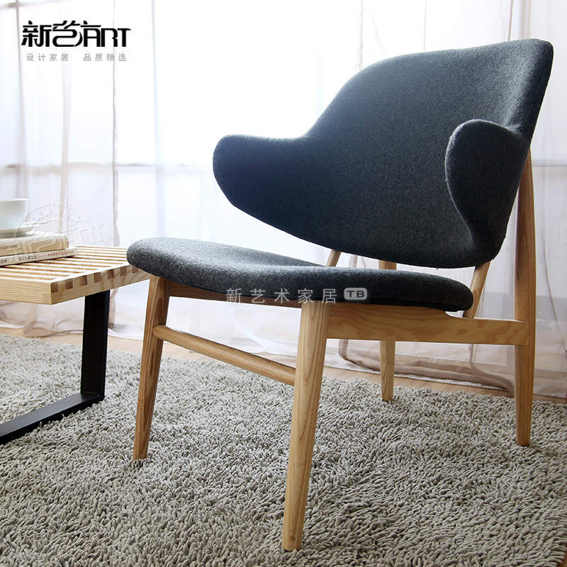 Penguin fabric sofa chair sofa chair IKEA Continental simple and stylish modern leisure wooden chair factory direct(China (Mainland))