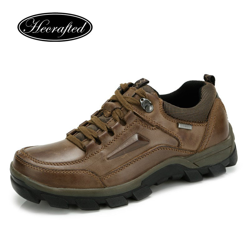Big size Vintage Full Genuine leather men boots,autumn boots,men hiking boots(China (Mainland))