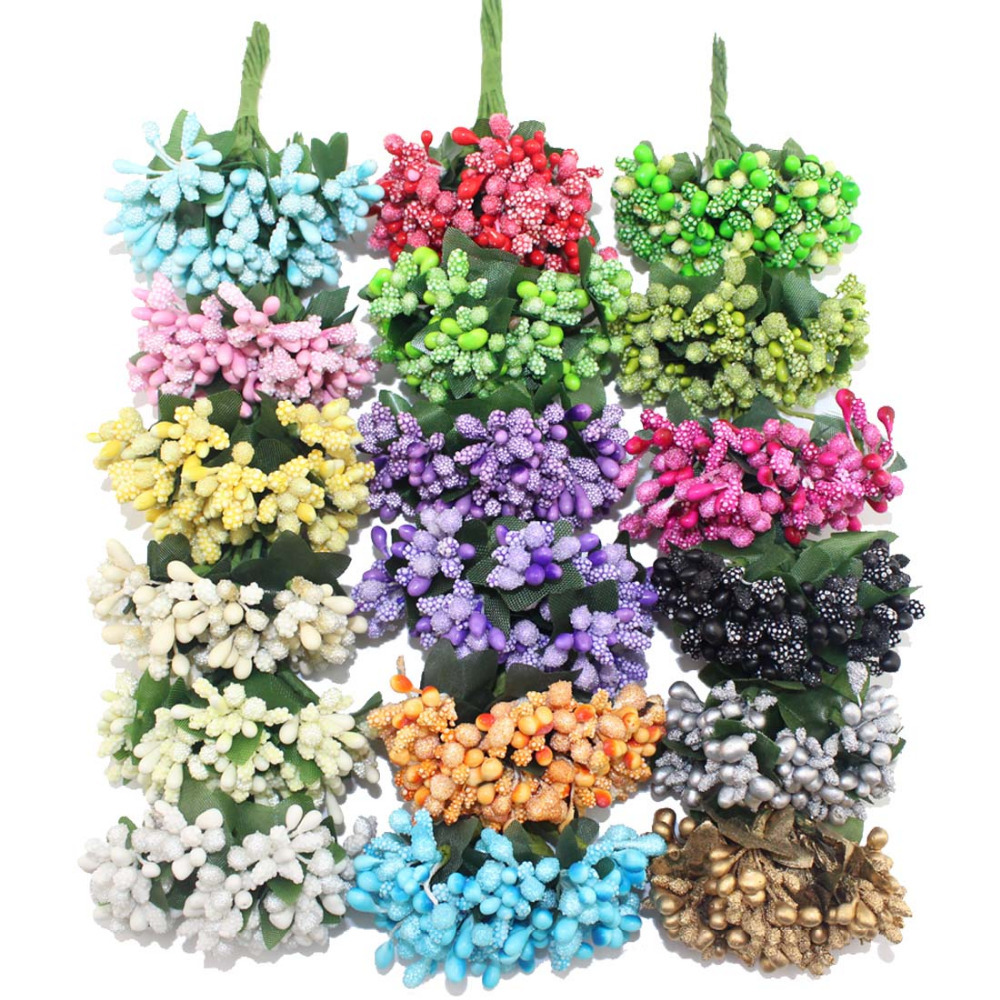 Гаджет  Free Shipping army mixlcolor Flower stamen wire stem/Scrapbooking Flower leaves and stamen wedding box decoration(144pcs/lot None Дом и Сад