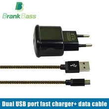 Buy BrankBass 5V/2A Universal USB Charger Travel Wall Charger EU Plug Mobile Phone Charger+ Micro usb cable Android phone/Tablet for $4.99 in AliExpress store