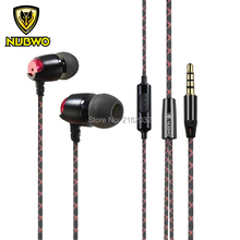 Nubwo NJ210 in ear earbud earphone wired deep bass HIFI for PC laptop iphone smartphone xiaomi(China (Mainland))