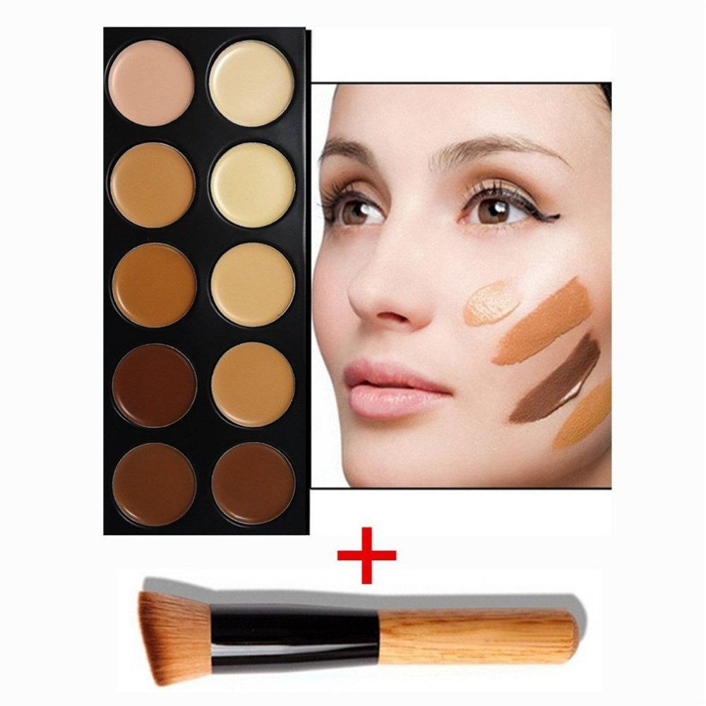 10 Colour Contour Powder Makeup Palette Make Up Palette-Professional Contour Kit- Face Eye Powder Foundation Palette(China (Mainland))