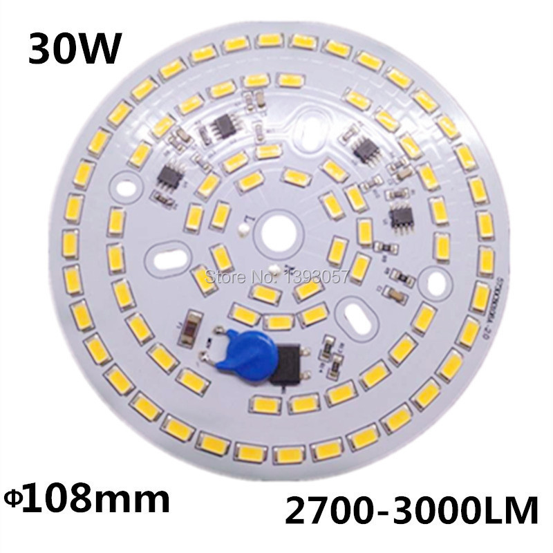 Free shipping 30W SMD 5730 5630 LED PCB with SMD5730 installed and IC driver . aluminum plate(China (Mainland))