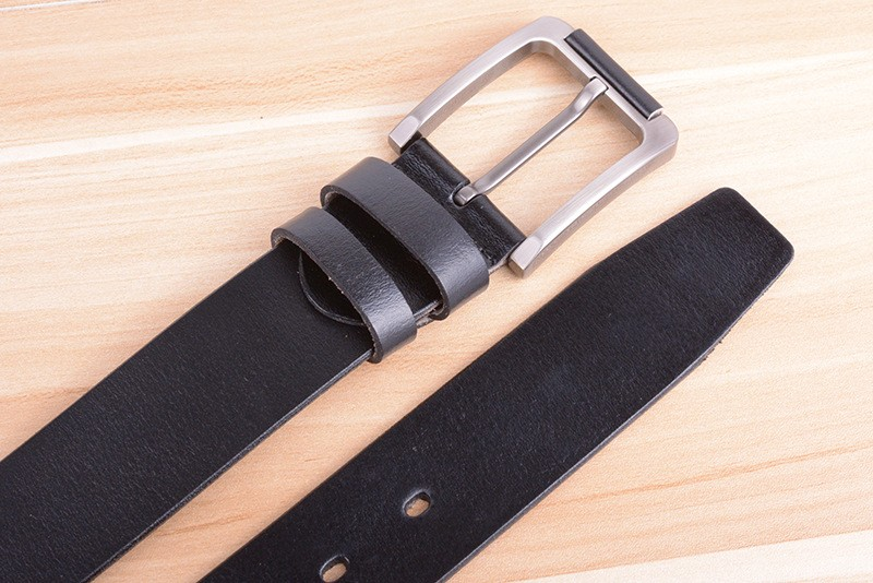 Factory Outlets Sale!! Solid Color Pin Buckle Male's Jeans Belts Quality Guaranteed Genuine Cow Leather Simple Waistband SY535