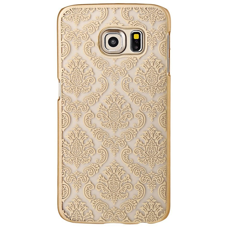 Best Marketing Golden Anti-knock Vintage PC Frosted Protective Case Cover Stylish Classic Palace Pattern for Samsung S6 Edge(China (Mainland))