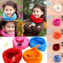 Children's Muffler Baby Warm Scarf Boy /Girl Knitted O Ring Scarf 2015 New Style Designer Knitting Kids Neck Warmer Neckerchief(China (Mainland))