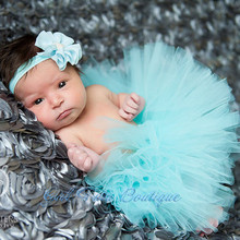 Aqua Newborn Tutu Baby Girls Tulle Skirt  Toddler Tutus Princess Skirt Handmade Free Ship 2014 New Photo Prop(China (Mainland))