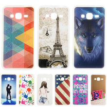 Fashion Personality Painted patterns Soft TPU Back cover Samsung Galaxy J3 Cell Phone Protective Case - Mike digital accessories store