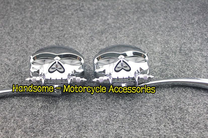 Chrome Custom  Skull face  Mirrors For Honda Gold Wing Goldwing GL 500 650 1000 1100<br><br>Aliexpress