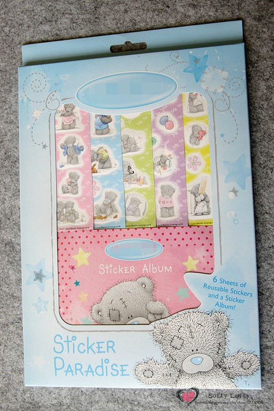 Free Shipping Tatty Bear sticker album reusable notebook play games kids Learning Educational christmas gifts(China (Mainland))