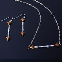 New design hematite jewelry set fashion necklace match earrings sets 2015 jewelry for women free shipping(China (Mainland))