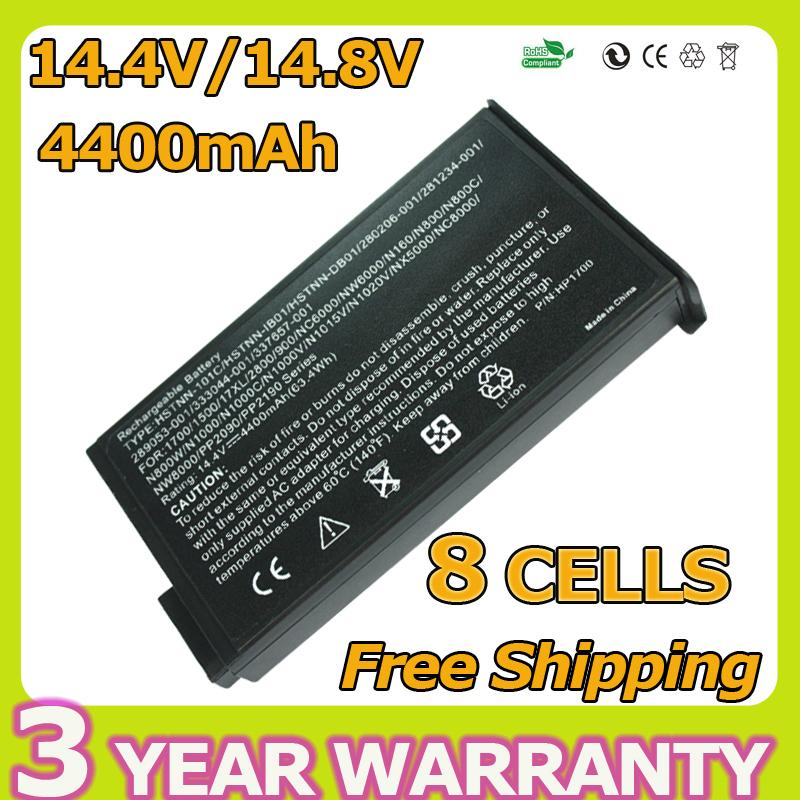 Laptop Battery For HP Mobile workstation NW8000 for Hp Compaq Business Notebook NC6000 NX5000 NC8000 NW8000 4400mah 8CELLS(China (Mainland))