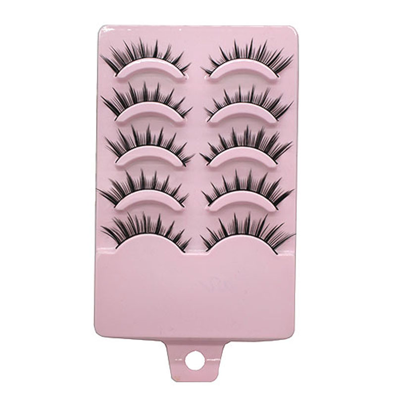 10Pair Lady Handmade Mink Eye Lashes Extensions Tools Professional Make Up Lengthening False Eyelashes Soft Cheap Fake Eyelashes(China (Mainland))