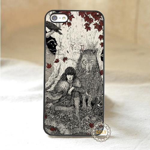 sketch Game of Thrones Bran Stark fashion mobile phone case cover for iphone 4 4s 5 5s 5c 6 6 plus H3812(China (Mainland))