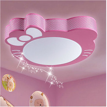 free shipping Ketty cat Hello Kitty children's room ceiling lamp bedroom lamp ceiling decorated with cartoon cat Kitty LED lamps(China (Mainland))