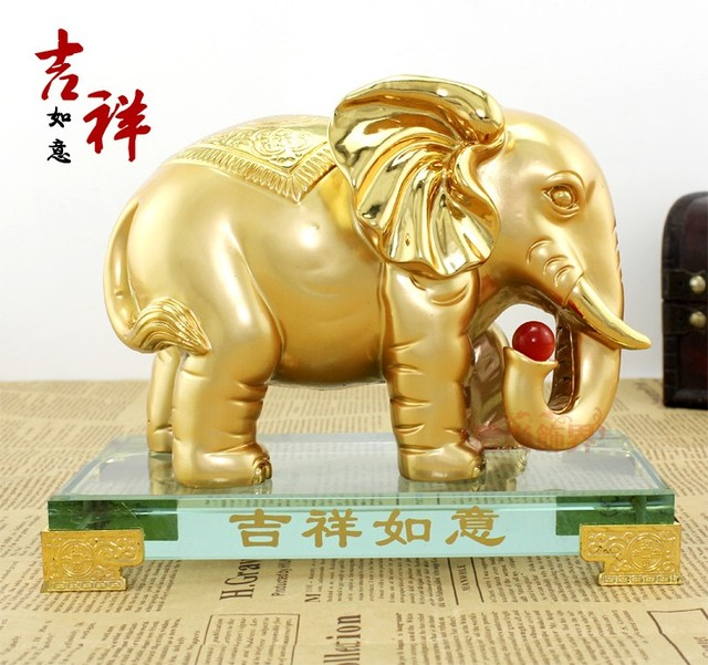 Lucky elephant decoration home decoration lucky fortune mascot crafts