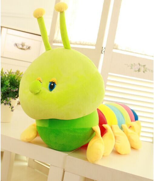 2016 Colorful caterpillar Stuffed & Plush Animals one piece 60cm Lovely soft Interactive toys for children hot sale(China (Mainland))