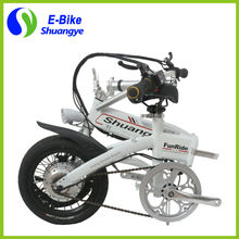 Fashion  intelligent 36v 250w Lithium Battery 14''  Mini Folding Electric Bicycle (China (Mainland))