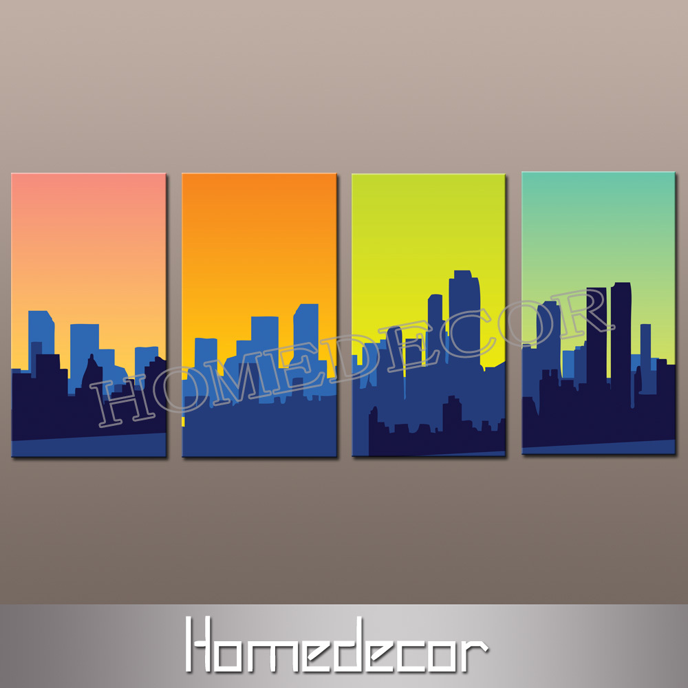 Abstract City Canvas Art Abstract Art Canvas Prints