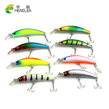 Buy HENGJIA Fishing Lure Minnow 9.5CM 9G Bait Plastic Hard Lure Swimbait Pesca Isca Artificial Bait Fishing Hook, MI097 for $7.59 in AliExpress store