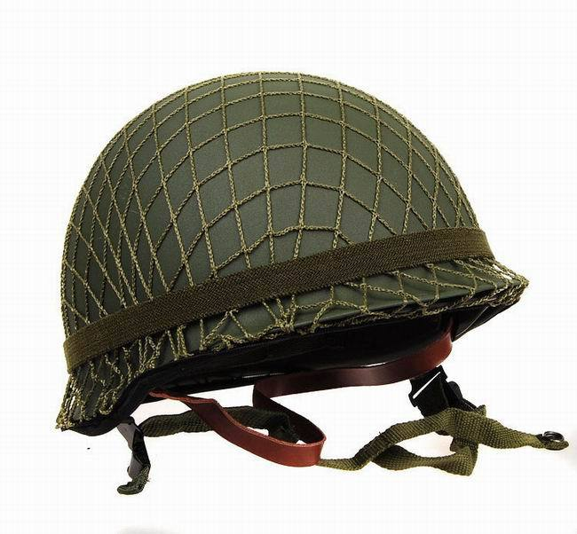 Perfect World WWII USA M1 Steel Helmet With Camouflage Net #22137(China (Mainland))