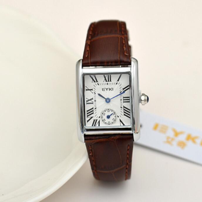 TGJW788 luxury black watch EYKI brand superior rectangle wristwatch business men 18k gold plated watch water resistant relogio(China (Mainland))