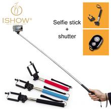 Self Selfie Stick with Clamp+Bluetooth Remote Shutter Pau De Selfie Palo Selfie Monopod Selfie Bluetooth Stick Extendable 1050