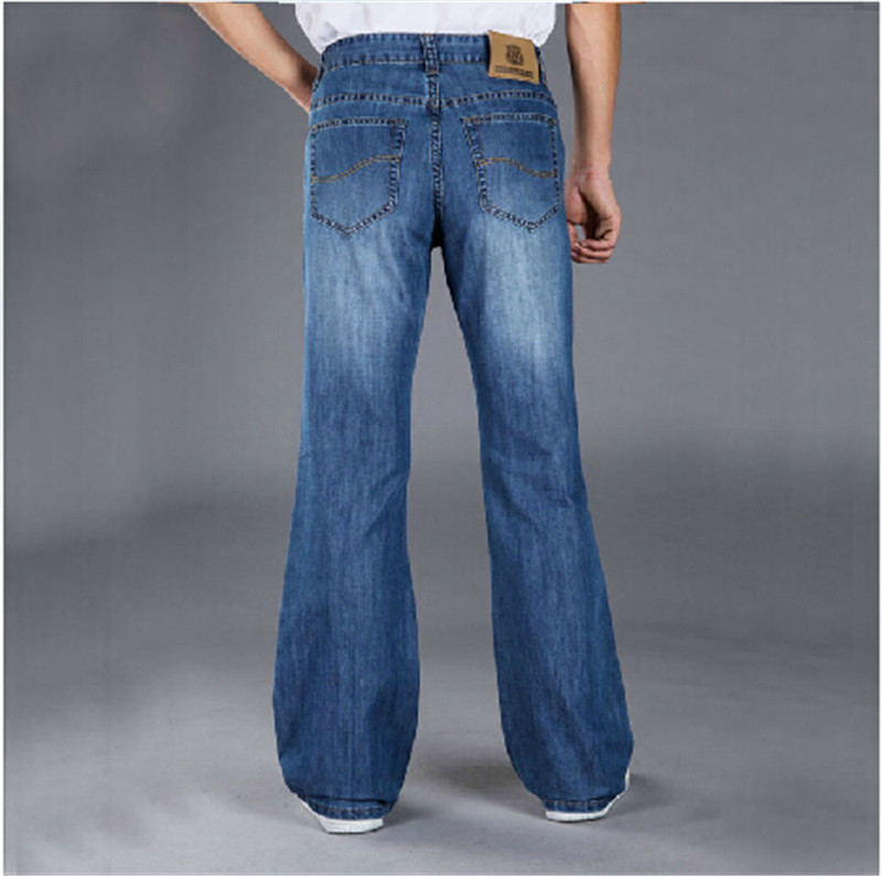 2015 Fashionable Casual Big Men Flare Pants jeans Male Loose Denim Long Trousers Sexy Cool Plus Size 28-38Одежда и ак�е��уары<br><br><br>Aliexpress