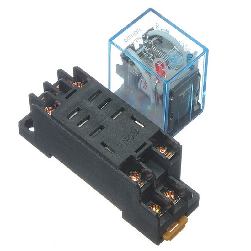 Brand New 1pc 220V 10A Coil Power Relay DPDT LY2NJ HH62P HHC68A-2Z With Socket Base(China (Mainland))
