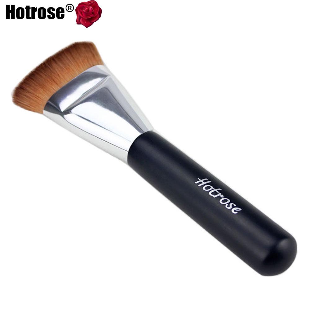 Pro Multifunction Flat Contour Cosmetic Brush Hotrose Cosmetic Brush Big Face Contour Brush Excellent Round Foundation Brush(China (Mainland))