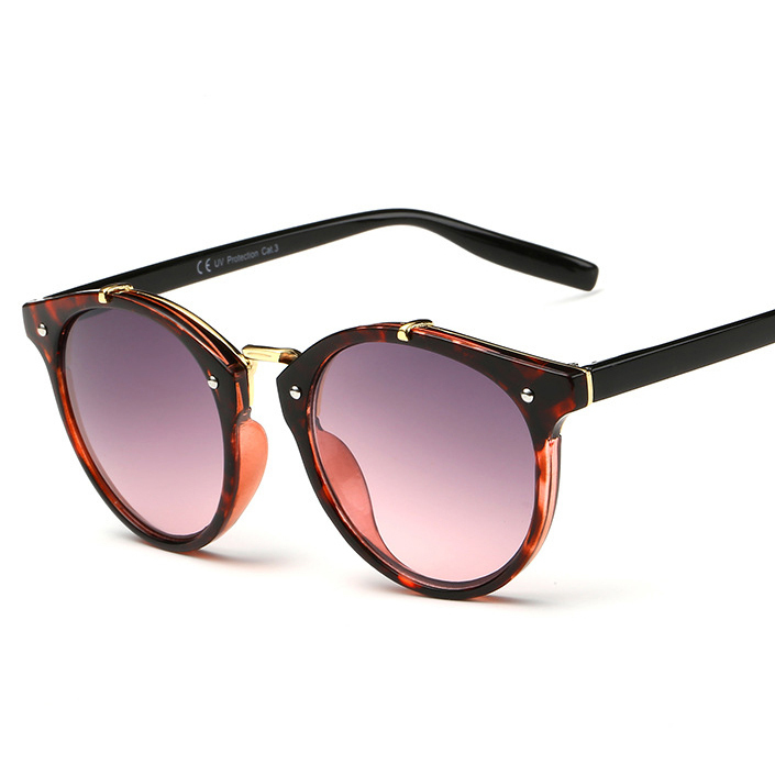Fashion Vintage Sunglasses Women Round Gradient Sun Glasses Women Eyewear Brand New Designer Retro Female Oculos de sol Feminino(China (Mainland))