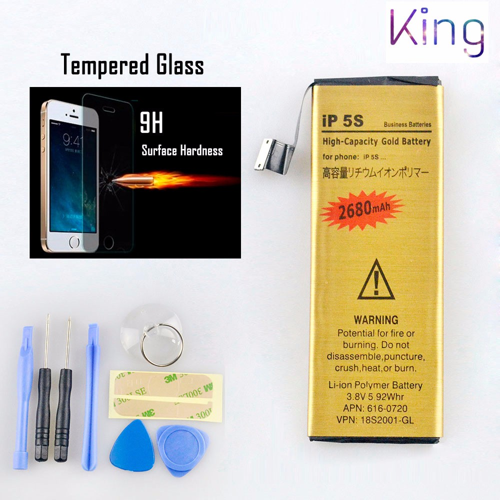 IPhone5S new 0 cycle Battery OEM neutral Sealed package without LOGO Mobile phone Batteries and tool kit
