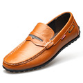Top Quality Men s Flat Shoes 2016 Breathable Slip on Men Boat Shoes Casual Leather Loafers