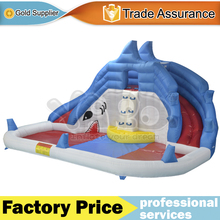 YARD Inflatable water slide,Shark inflatable water slide with Blower , Happy summer toys for children(China (Mainland))