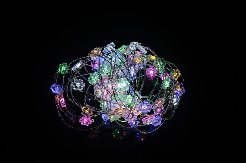 10M 100 LED Copper Wire String Lights Colorful Sun Flower DC 12V LED Starry Outdorr Christmas Light Decoration(China (Mainland))