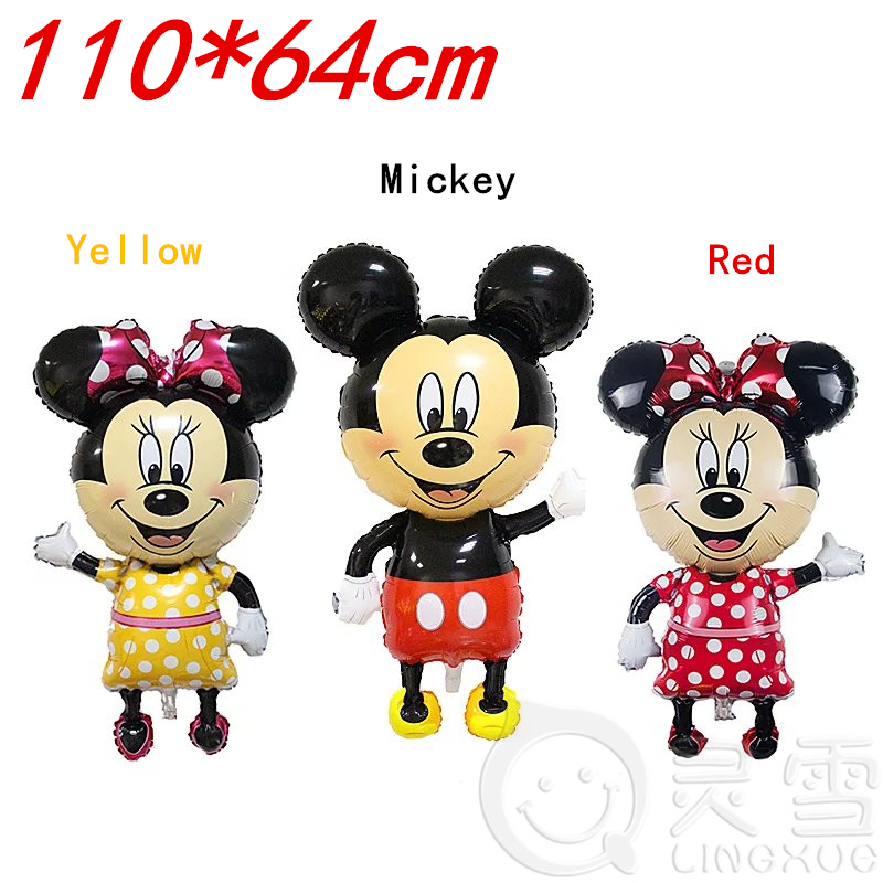 NEW 46inch mickey balloons Minnie Mouse Airwalker Foil Balloon Mickey Mouse balloon minnie mouse&mickey mouse party supplies(China (Mainland))