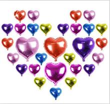 1 шт./пакет 18 дюйма Сердце Любовь Дизайн Гелием Воздушный Шар Фольги Дети Игрушка в Подарок Свадьба Рождество День Рождения Украшения