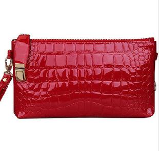 2 Color 2015 New Fashion Crocodile Bags Handbags Women Famous Brands Clutch Bolsas De Marca Bolsos Mujer De Marca HEC A020(China (Mainland))